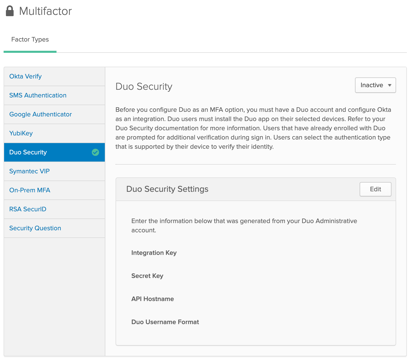 OKTA | Duo Security