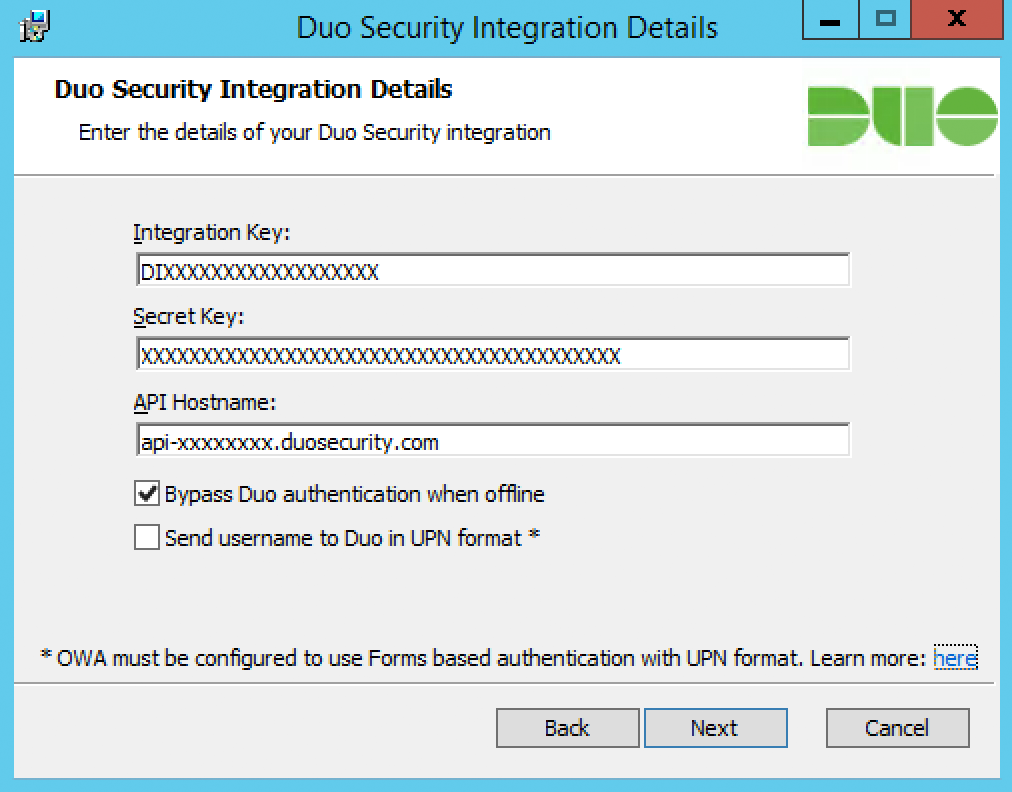 Duo Two-Factor Authentication for Outlook Web App (OWA) on