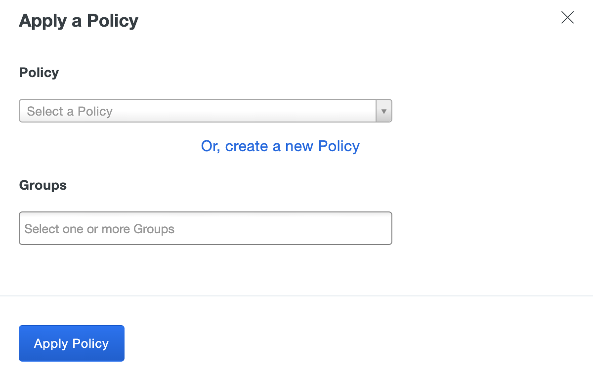 Create New Application Policy