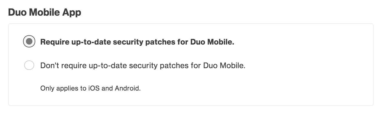 Duo Mobile Settings