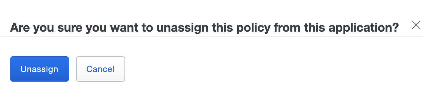 Unassign Custom Policy