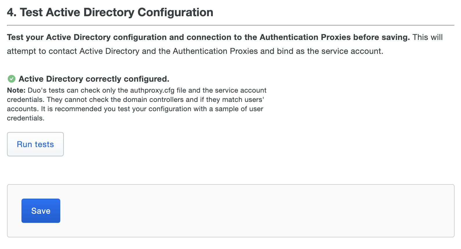 Active Directory Test Configuration