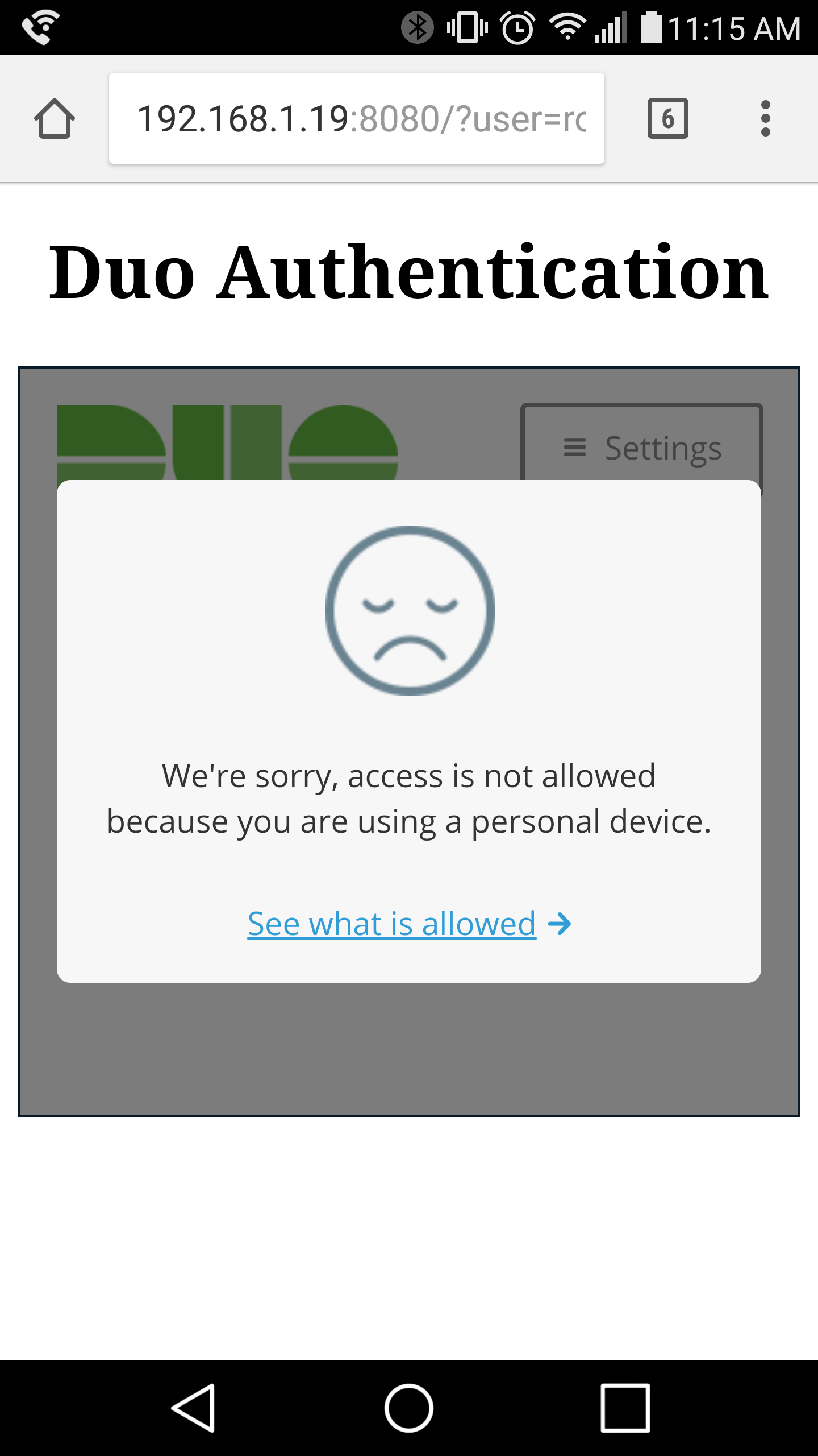 Android Trusted Endpoint Verification Failed