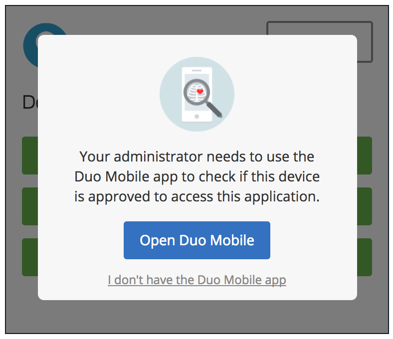 Duo Mobile Trusted Endpoint Verification