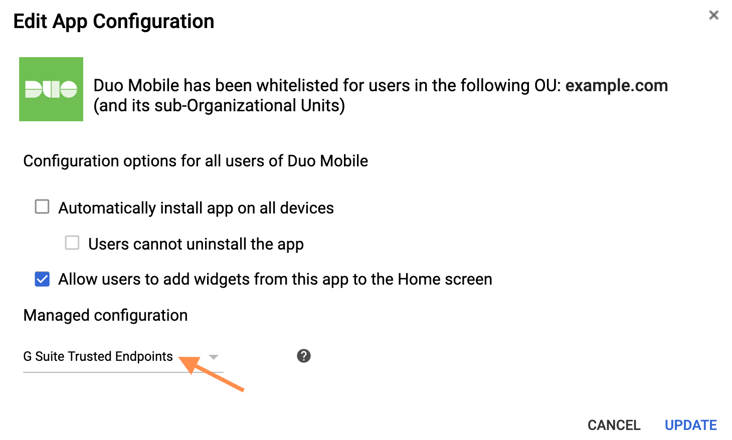 Duo Mobile Configuration