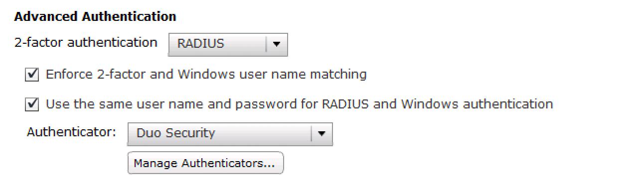 Complete Duo RADIUS Configuration