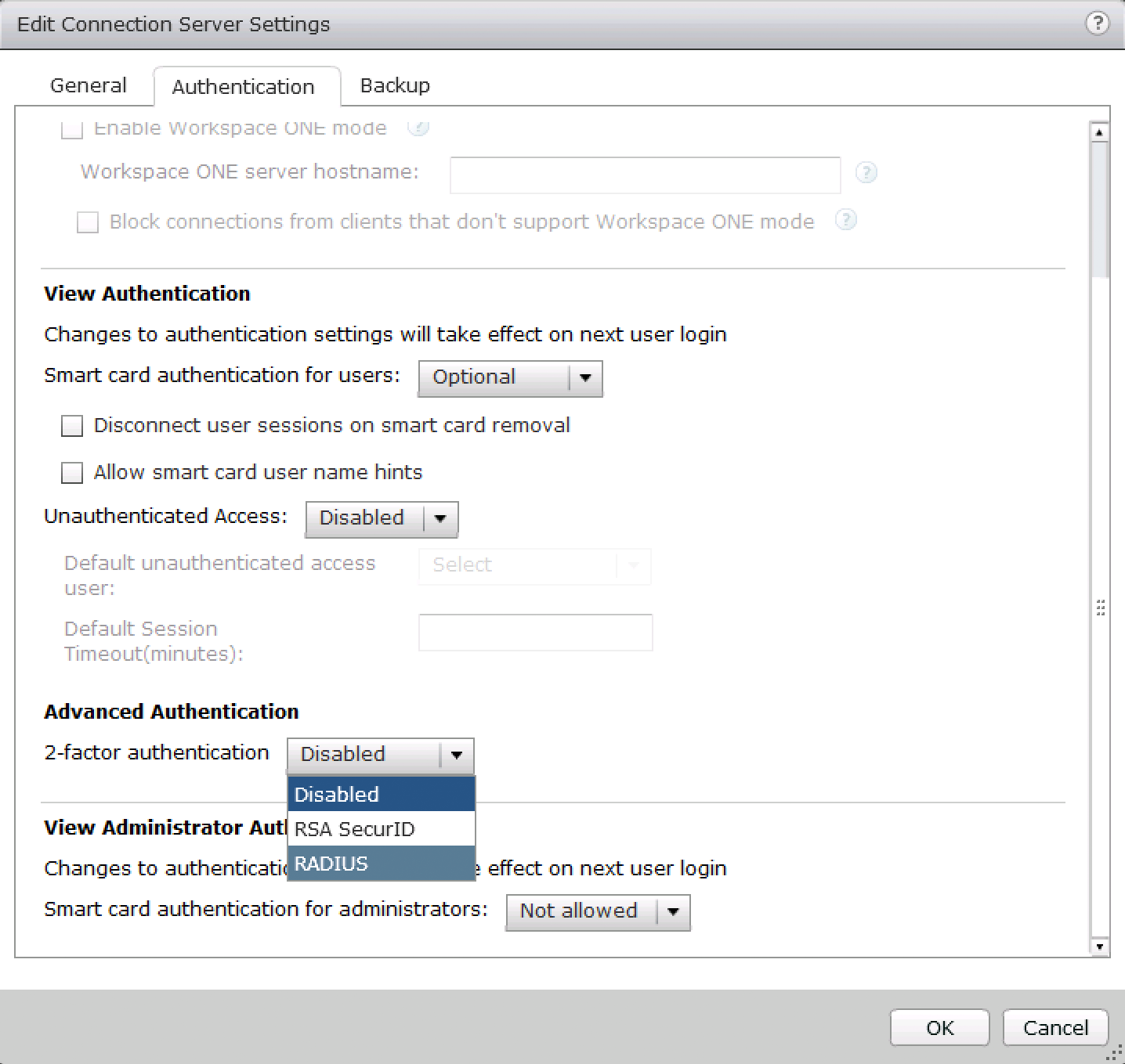 Enable RADIUS Authentication