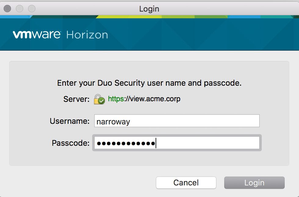 Two-Factor Authentication for VMware Horizon View (VDI) | Duo Security