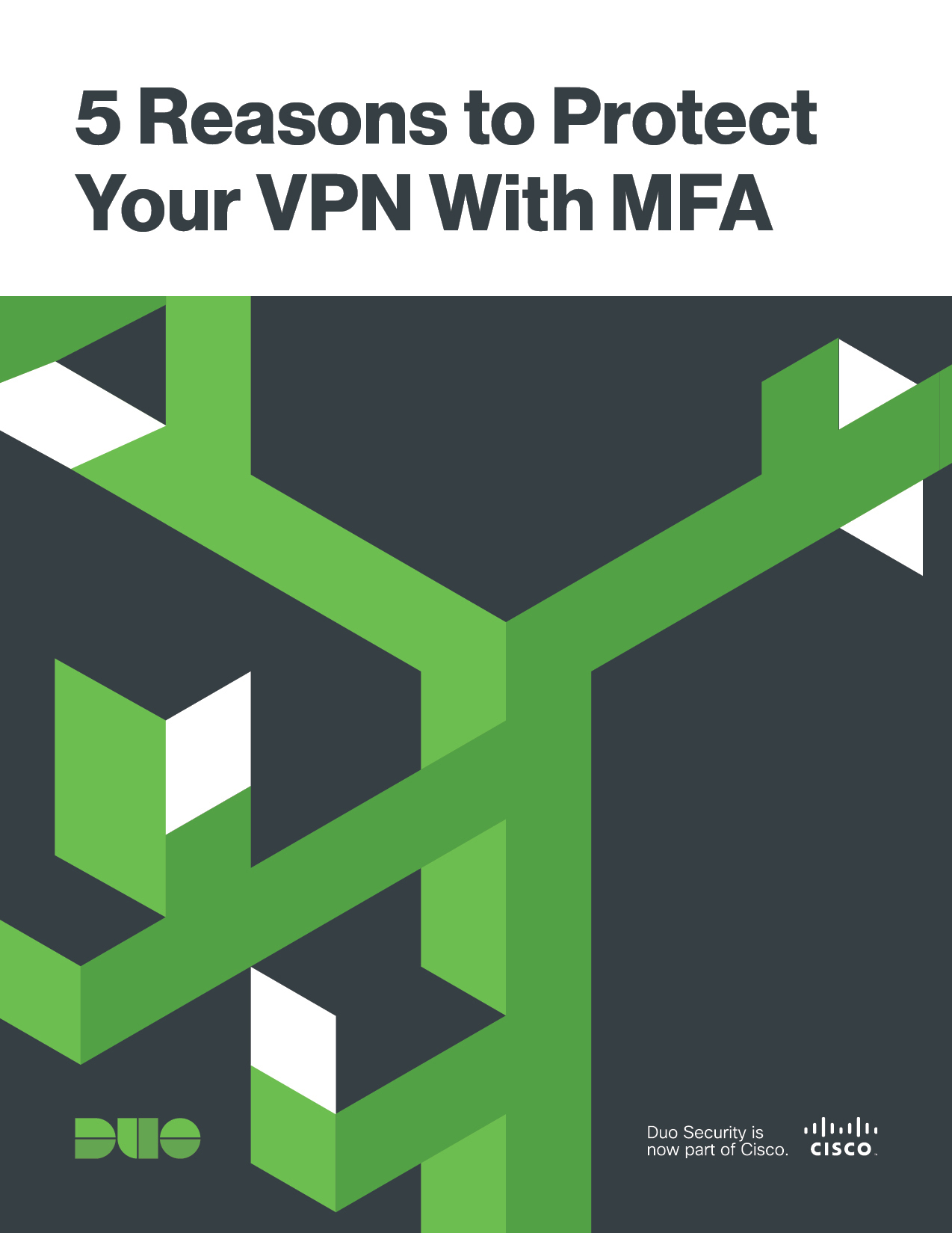Cover of 5 Reasons to Protect Your VPN With MFA eBook