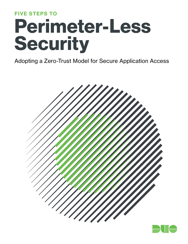 Cover of Five Steps to Perimeter-Less Security: Adopting a Zero-Trust Model for Secure Application Access eBook