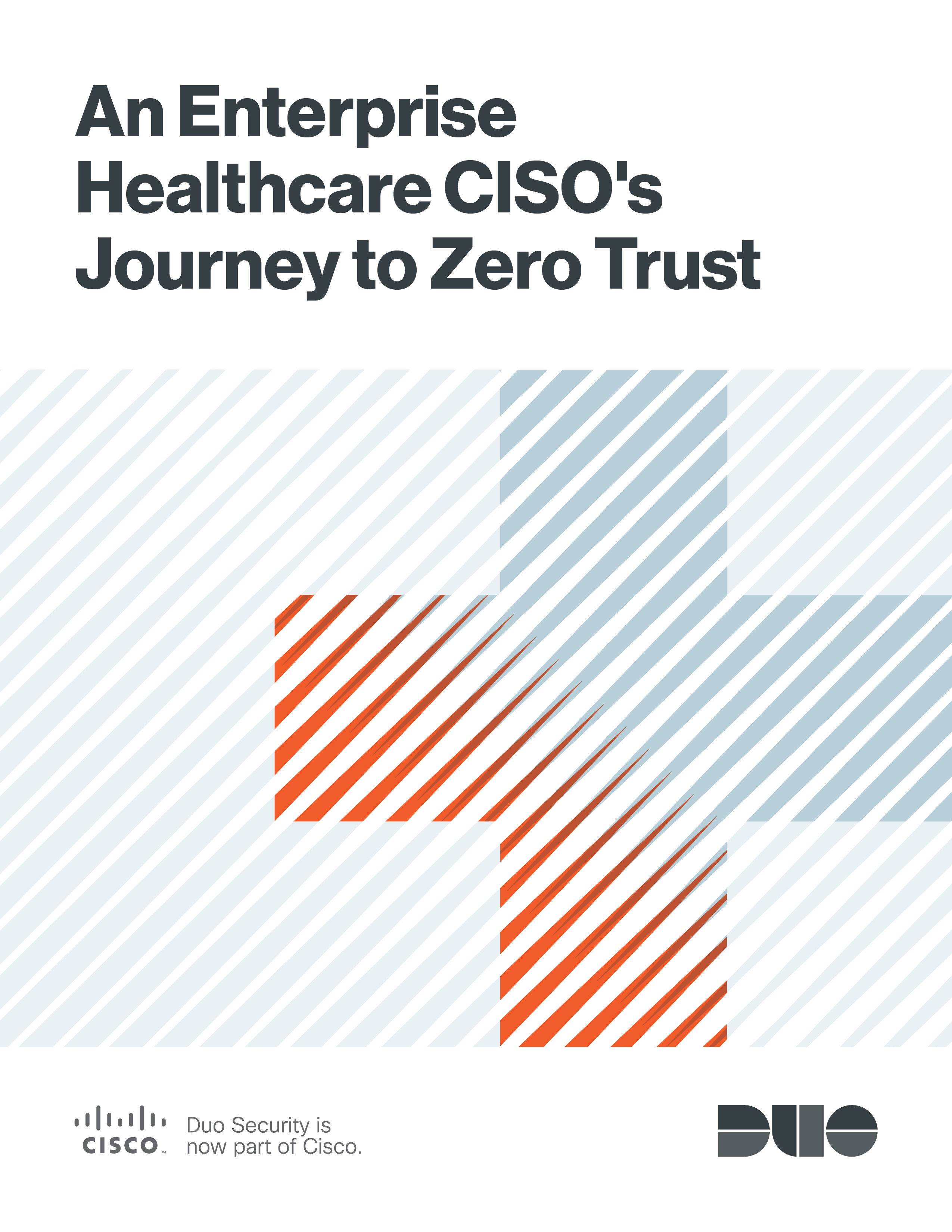 Cover of An Enterprise Healthcare CISO's Journey to Zero Trust eBook