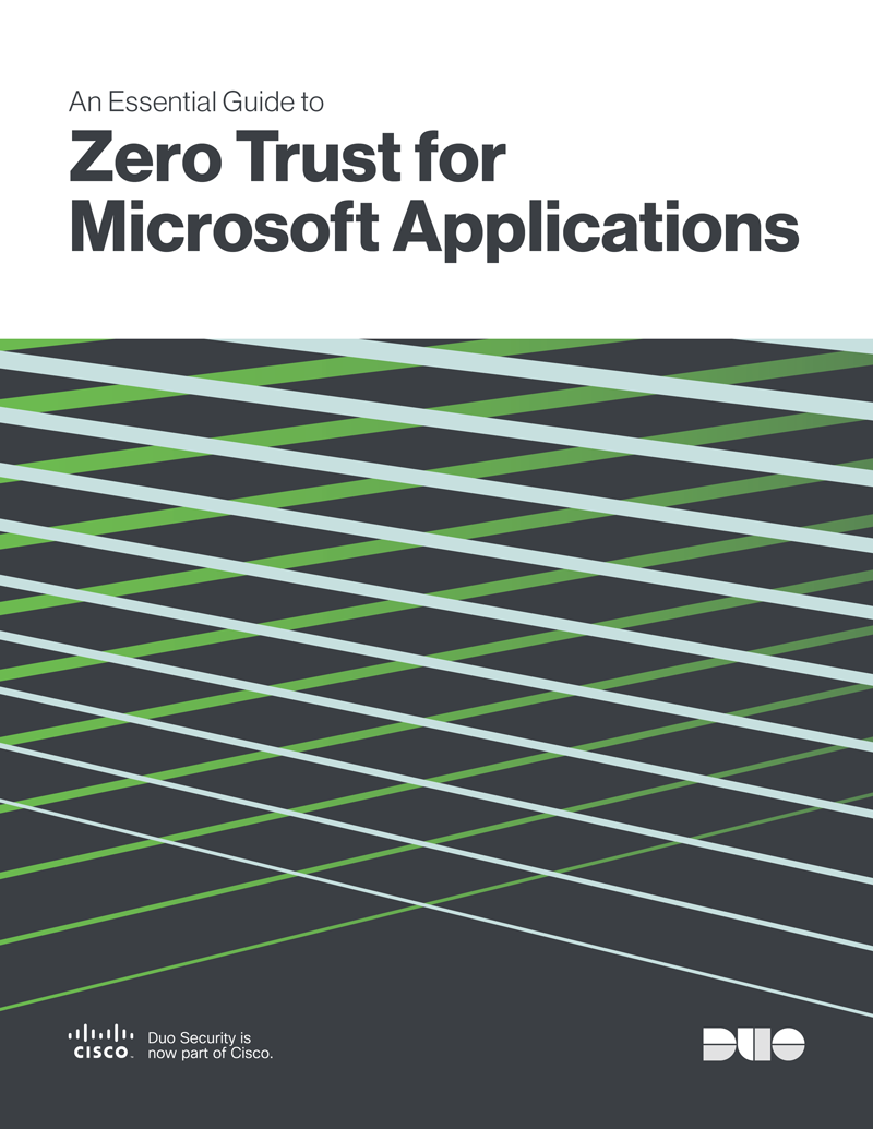 Cover of An Essential Guide to Zero Trust for Microsoft Applications eBook