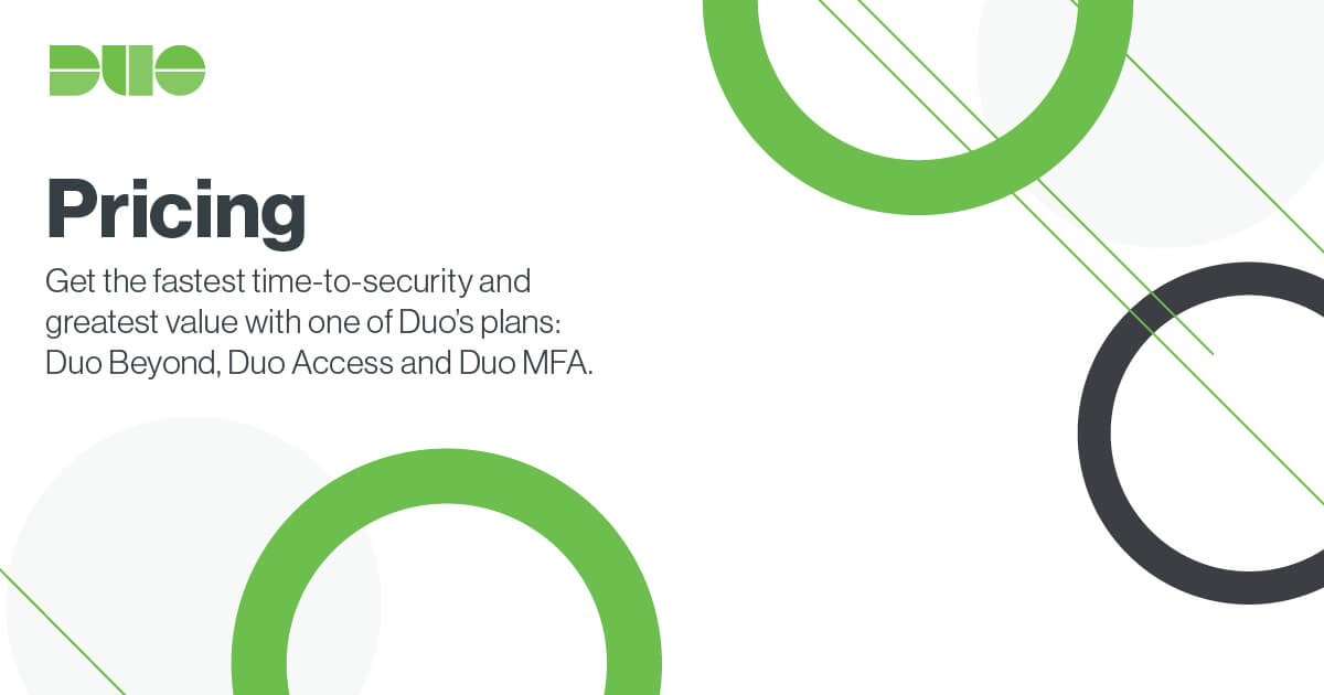 Pricing | Duo Security