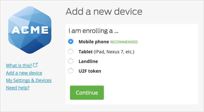 This Feature Is Available For All Web Based Integrations. Learn More In Duo  Securityu0027s Guide To Self Enrollment.